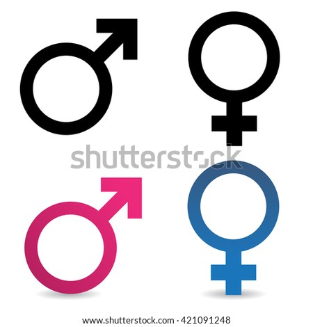 Sex symbolic icons on white background. Vector art.
