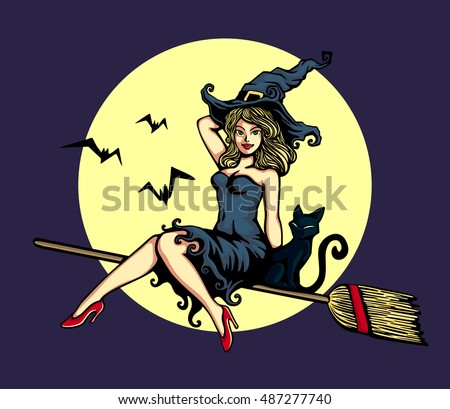 Witch sex broom flying traditions
