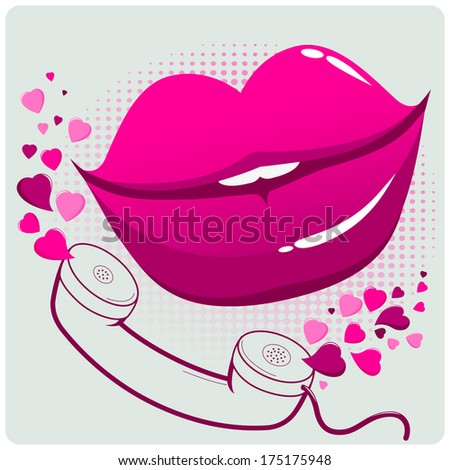 Sexy female lips and telephone. A sexy woman talking on the phone ...: http://www.shutterstock.co.in/s/%22sex_services%22/search.html