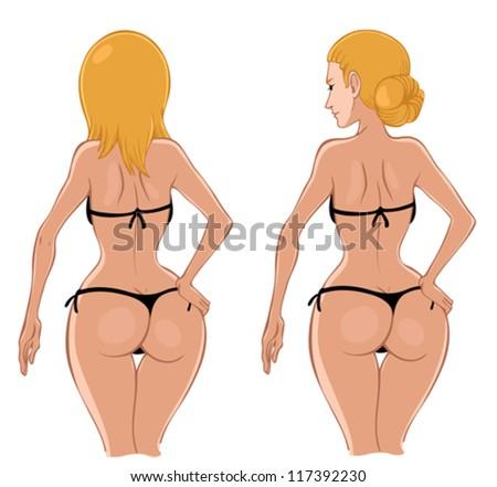 Sexy woman in bikini - stock vector
