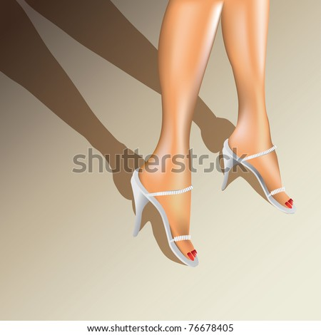 sexy woman legs with shoes - illustration