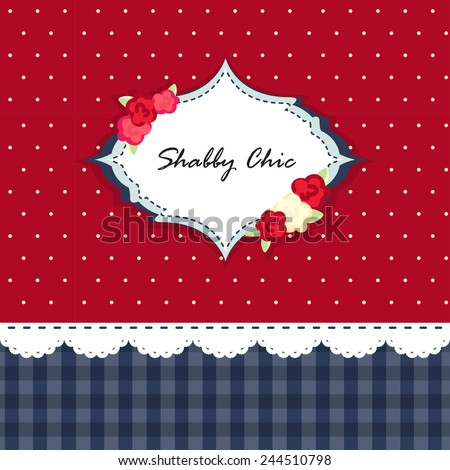 shabby chic. card. swatch