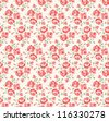 Shabby chic rose pattern. Scrap booking floral seamless background. - stock photo