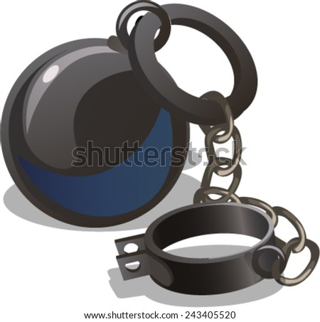 shackle - stock vector