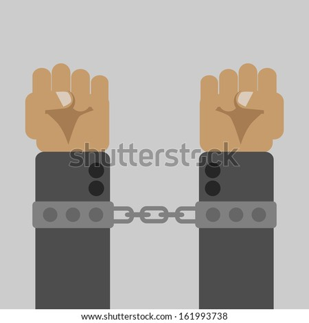 Shackled - stock vector