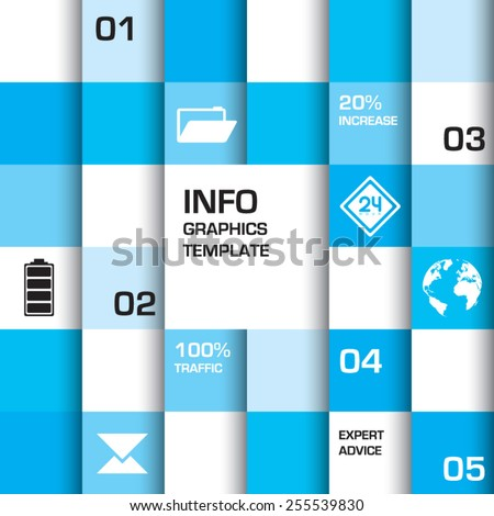 Shades of blue info background with room to add your own text - stock vector