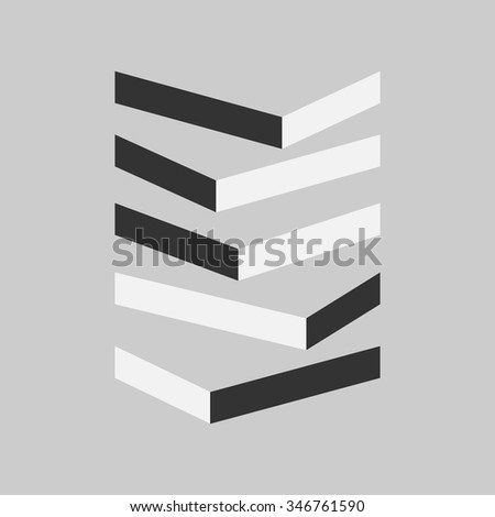 Shadow Books.Vector backgrounds.