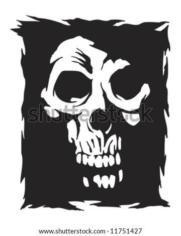 shadow skull vector - stock vector