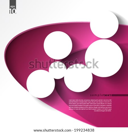 Shadowed Circles Design Background - stock vector