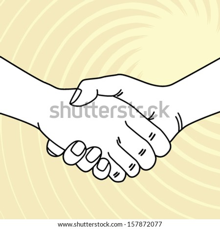 shake a hand vector illustration