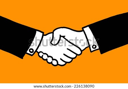 shaking hands - stock vector