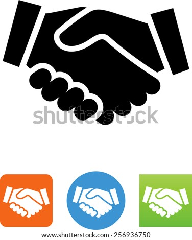 Shaking hands icon. Vector icons for your print project or Web site.