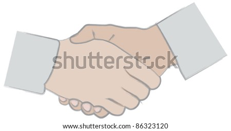 Shaking hands illustration - stock vector