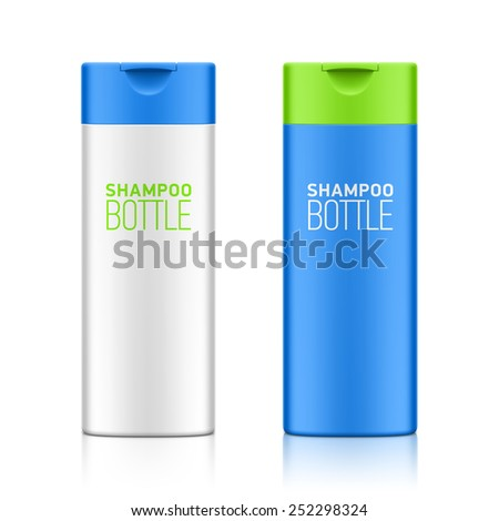 Shampoo bottle template for your design. Vector. - stock vector