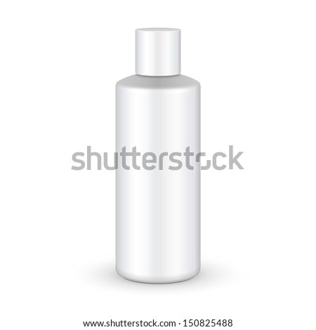 Shampoo, Gel Or Lotion Plastic Bottle On White Background Isolated. Ready For Your Design. Product Packing Vector EPS10  - stock vector