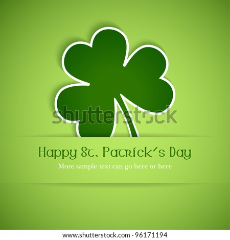 Shamrock, clover design, perfect for St. Patrick's Day. EPS10 - stock vector