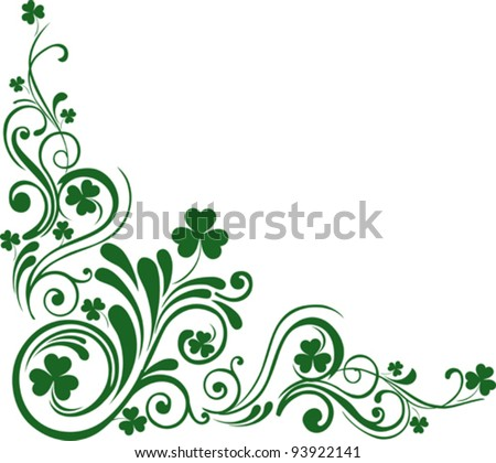 Shamrock for St.Patrick's Day. Vector St. Patrick's elements - stock vector