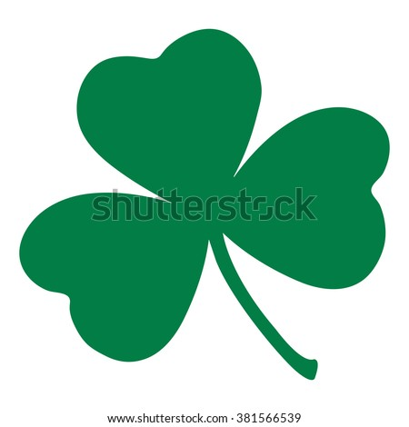 shamrock leaf icon st patrick day stock vector hd royalty free rh shutterstock com vector shamrock free shamrock vector file