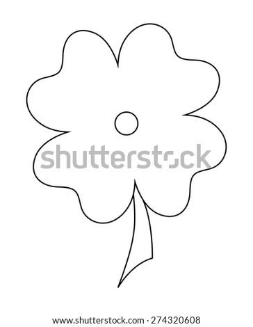Shamrock Leaf Shape - stock vector