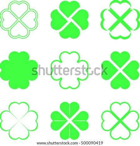 shamrock pattern background st patricks day design stock vector