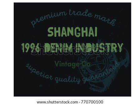Shanghai denim clothing tag, for retail business, denim or other product.