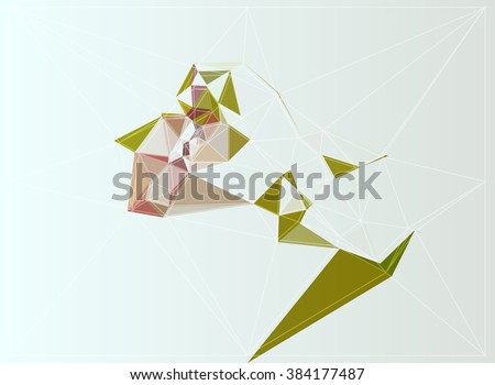 shape color texture illustration concept polygon triangle