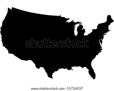 shape of american map - stock vector