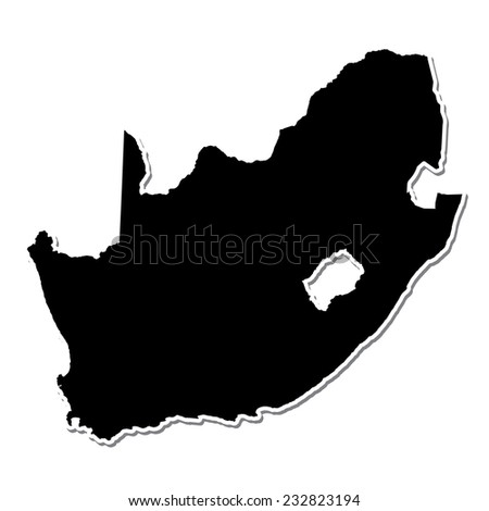 Shape of the Country of  South Africa