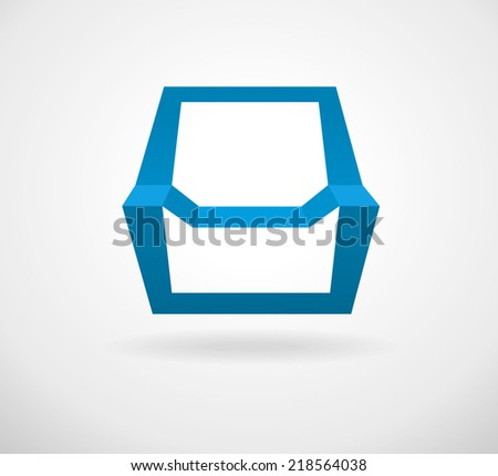 Shapes look like a chair. Elegant minimal style design. Can be used as logo for furniture shop. Vector illustration.  - stock vector