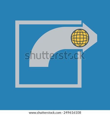 Share Arrow. Share in Social Networks. Share With the World.Vector illustration - stock vector