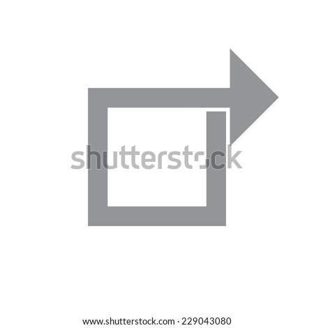 Share Arrow.Vector illustration - stock vector