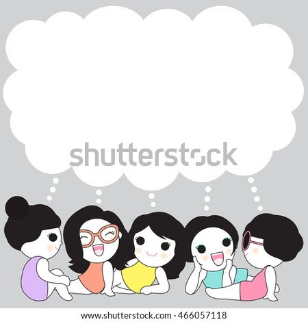 Share Feelings And Thoughts With Friends Character Paper Note illustration