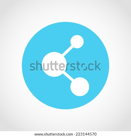 Share Icon Isolated on White Background - stock vector