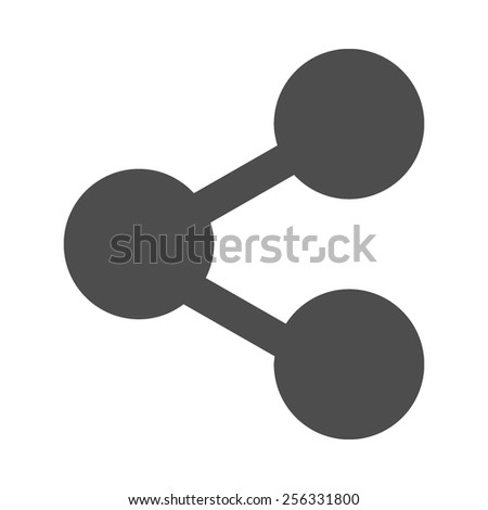 Share vector image to be used in web applications, mobile applications and print media. - stock vector