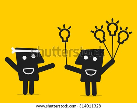 sharing idea - stock vector