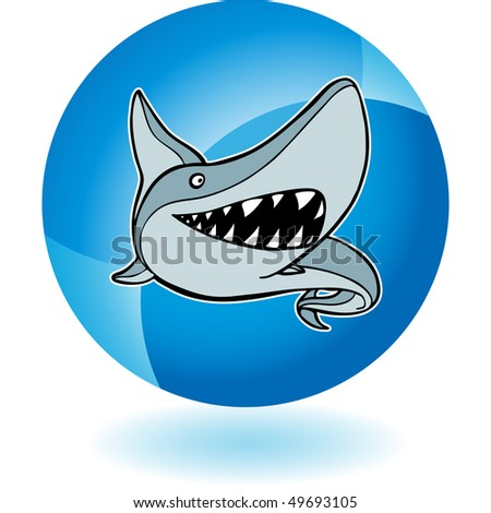 Shark - stock vector