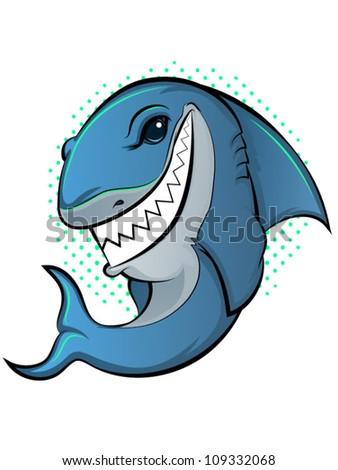 Shark Cartoon - stock vector