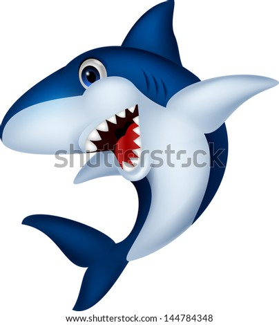 Shark cartoon - stock vector