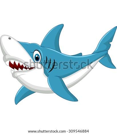 Shark cartoon illustration   - stock vector