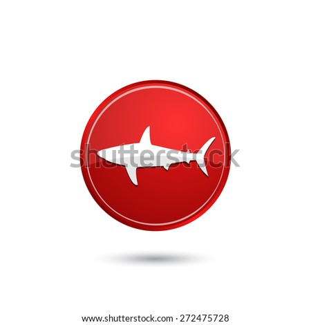 Shark icon - stock vector