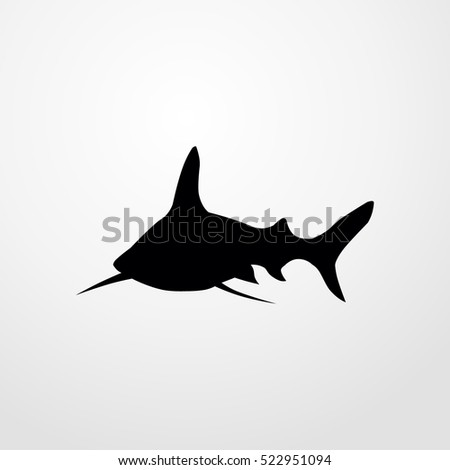 shark icon. flat illustration isolated sign symbol