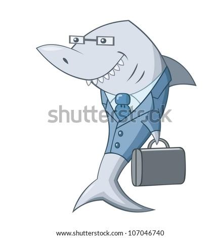 Shark of business - stock vector