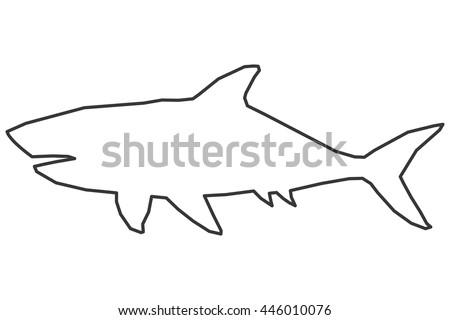 shark outline - Polyvore