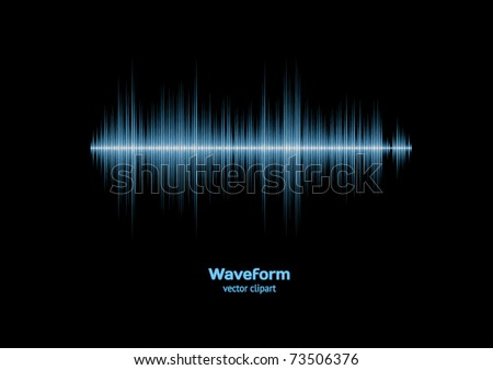 Sharp cool blue waveform