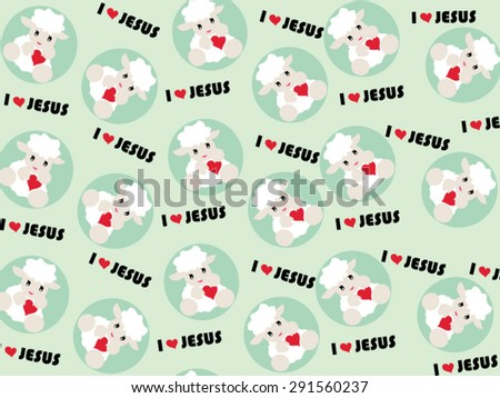 Sheep cartoon background vector.