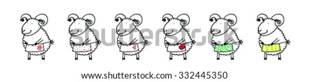 Sheep cartoon vector illustration
