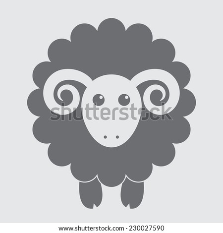 Sheep flat icon. Vector illustration - stock vector