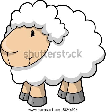 Sheep Lamb Vector Illustration - stock vector