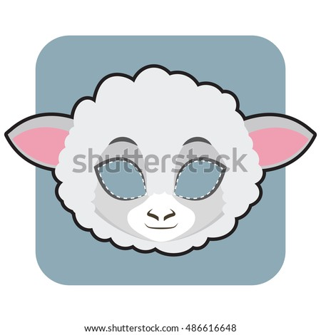 Sheep Mask For Halloween And Other Festivities