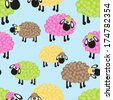 Sheep seamless pattern for your design - stock